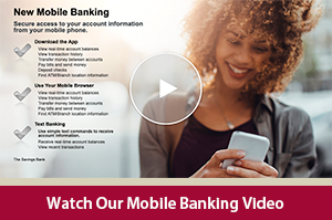 Learn how to manage your personal accounts from your phone with our Mobile Banking video
