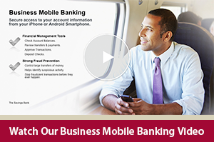 Learn how to manage your business accounts from your phone with our Business Mobile Banking video