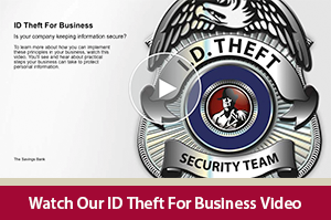 Learn how to keep you sensitive info safe with this ID theft for Business video