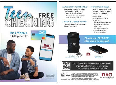 Click here to see this special offer for Teen Checking available March 31, 2021.