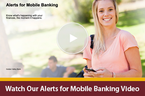 Interactive Video Player on alerts for personal mobile banking app