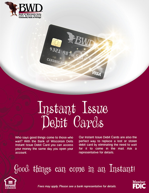 Instant Issue Debit Cards Ad