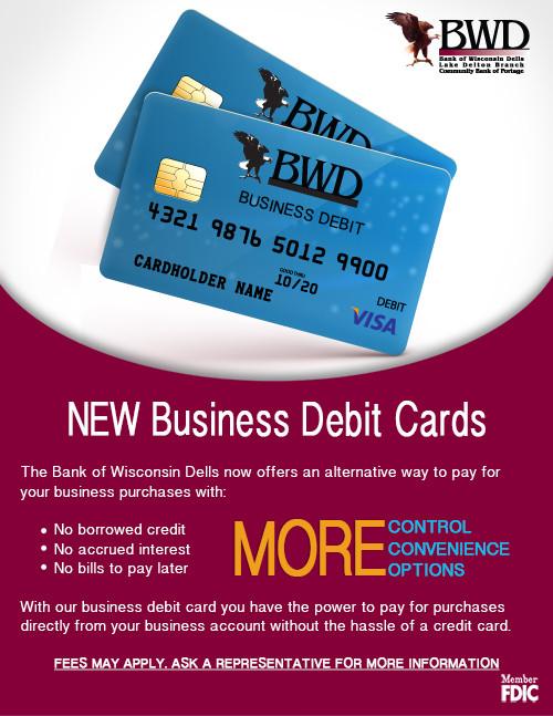 business debit card ad