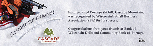 Ad congratulating Cascade Mt on SBA recognition