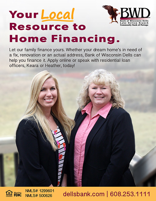 BWD mortgage advertisement featuring Keara and Heather