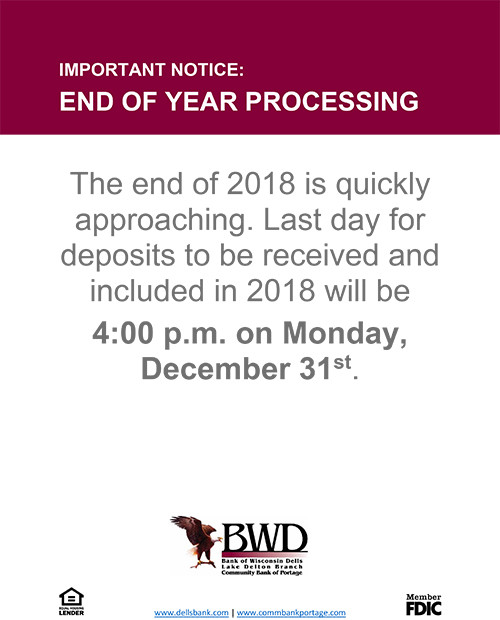 End of Year Processing Announcement