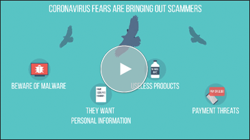 Coronavirus fears are bringing out scammers.