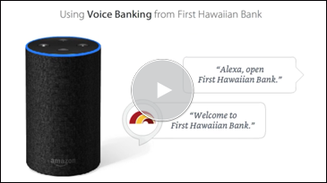 Using Voice Banking from First Hawaiian Bank.