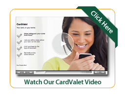 CardValet Video Image of Woman looking at cell phone