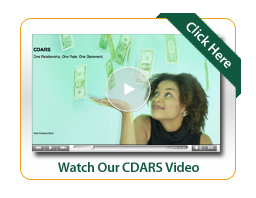 CDARS Video Image woman watching money fall out of the sky