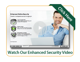 Enhanced Security Video Image man sitting at laptop smiling