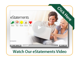 eStatements Video Image of man and woman looking at laptop and smiling