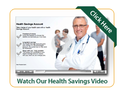 Health Savings Video Image with doctor smiling and family in the background