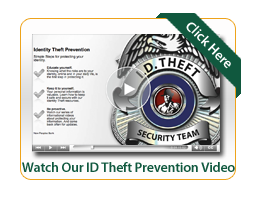 ID Theft Prevention Video Image with an ID Theft Badge