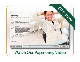 Popmoney video image with woman relaxing