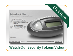 Business Security token video image of a security token