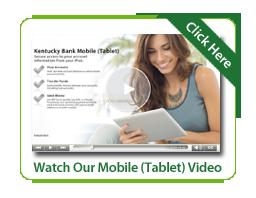 Kentucky Bank Mobile Tablet