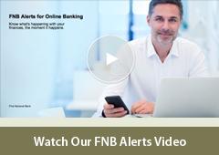 FNB Alerts for Online Banking