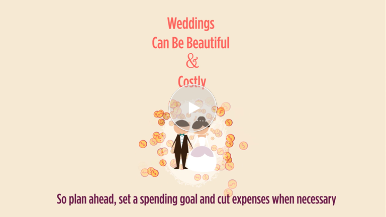 Planning a Wedding Involves Saving, Keeping Track Of Costs
