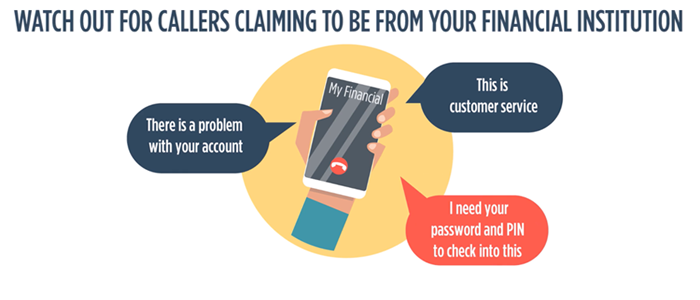 Watch Out For Scammers Claiming To Be From Your Bank
