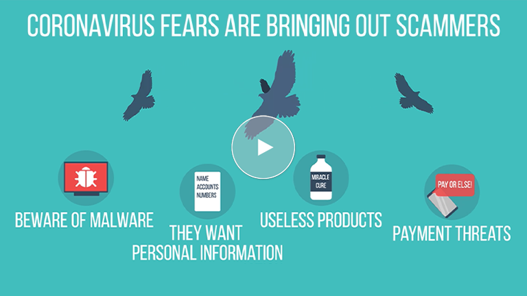Be On The Lookout For Coronavirus Scams